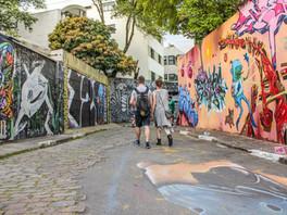 Street with Graffiti