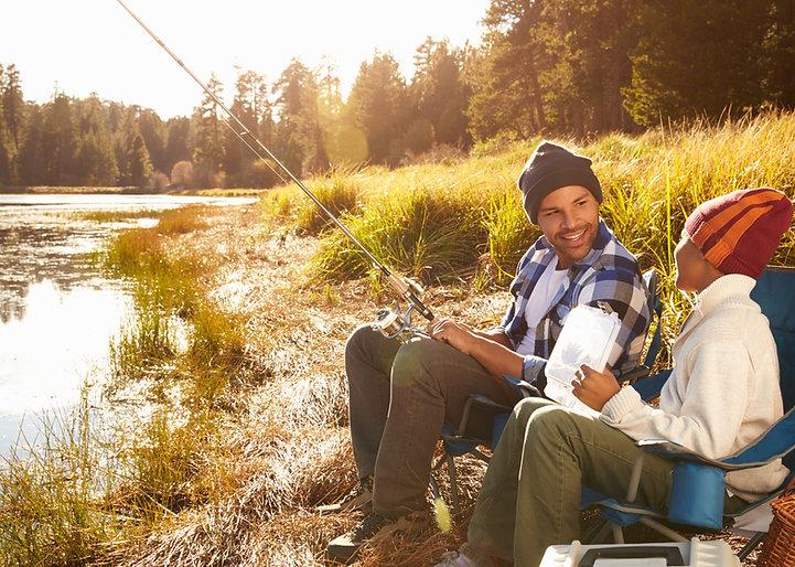 Padre e hijo, pesca