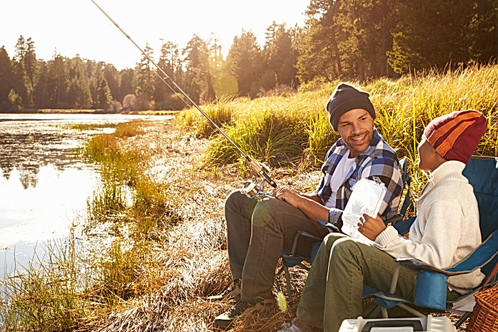 父と息子の釣り