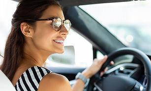 Frau fahren