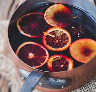 Glühwein mit Obst