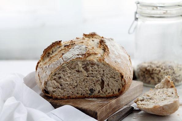 Miche de pain sain