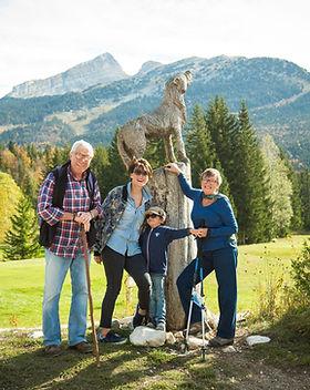 Family on a Hike