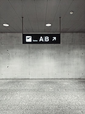 공항 게이츠 표시