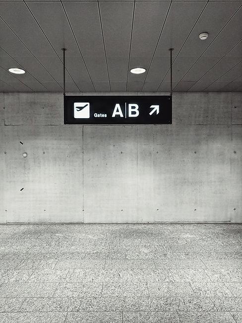 Flughafen-Gatter-Zeichen