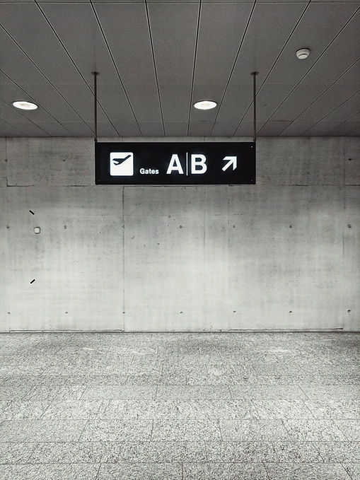 Airport Gates Sign
