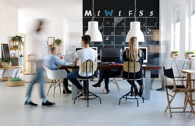 Moderne kantooromgeving