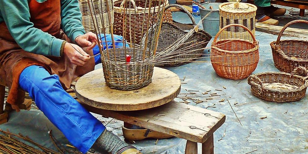Napkin Basket - Beginner Basket Weaving Class