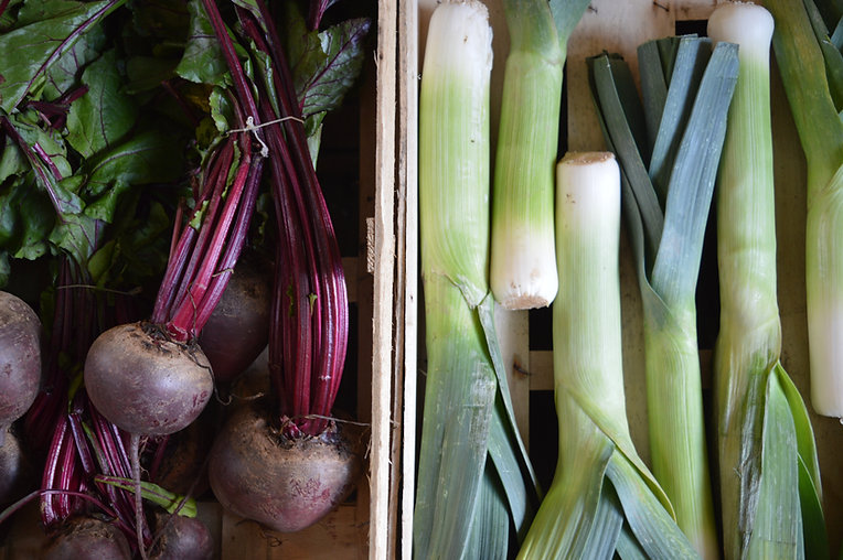 Beetroots and Leeks