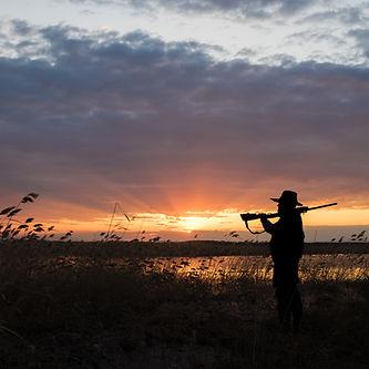 Jäger mit Schrotflinte