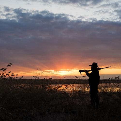 Hunter with Shotgun