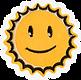 笑顔の太陽パッチ