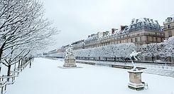 Ogród Tuileries w zimie