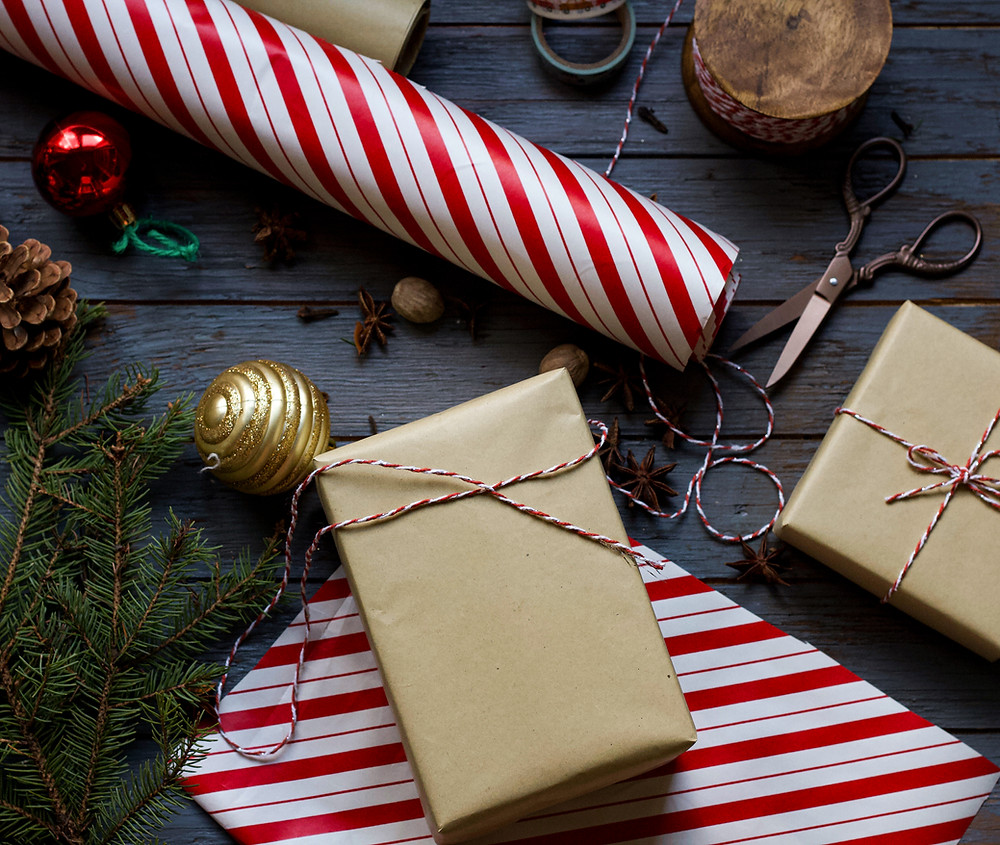 vianočný baliaci papier