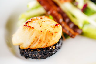 Scallops with black pudding | Fine Dining | The Capon Tree Townhouse