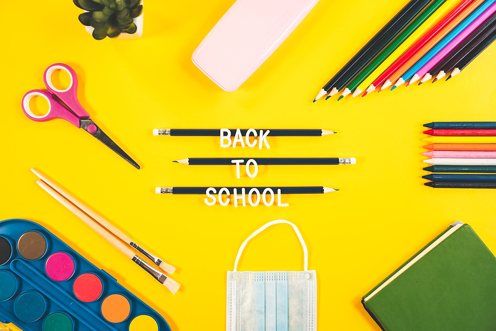 Back to school supplies show it's time to send kids to school.
