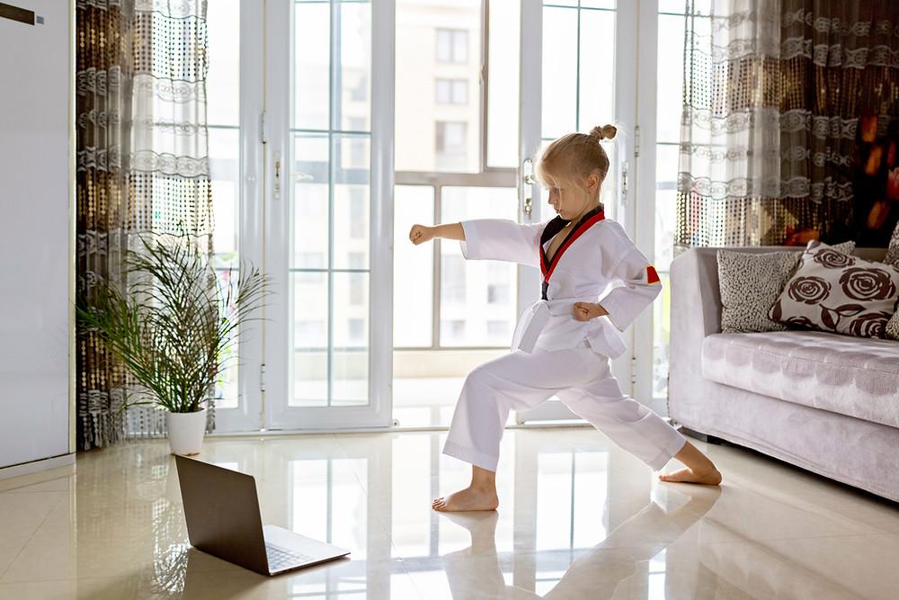 Motivated girl exercising to crush her goals