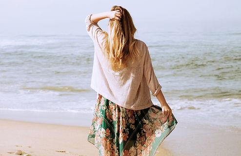 Mujer en el playa