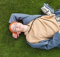 Vila på gräs