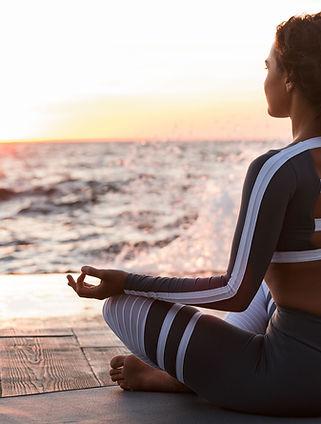 Meditacion en la playa