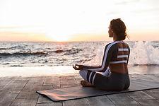 Meditatie aan het strand