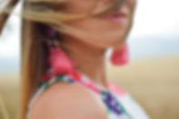 Rosa örhängen