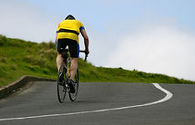 Cycliste en campagne