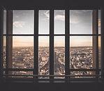 Городской вид из окна