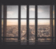 Vista urbana da janela
