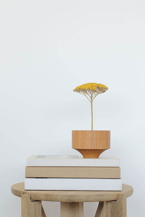 Wooden Flower Vase