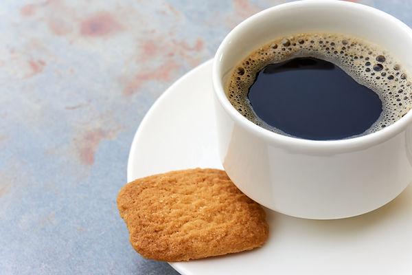 Koffie en een koekje