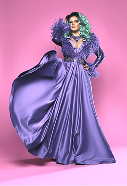 Drag Queen in Purple Dress