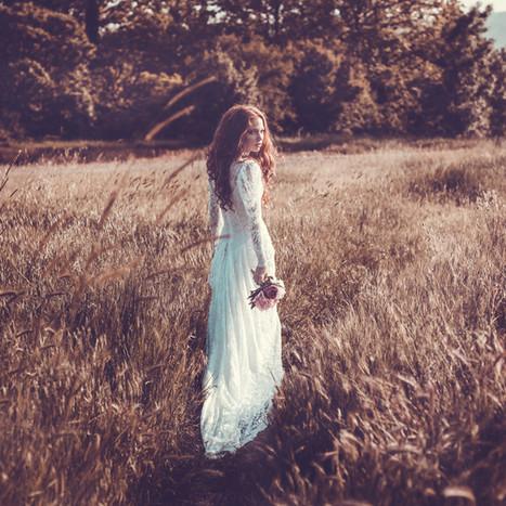 Outdoor weddings - bohemian brides