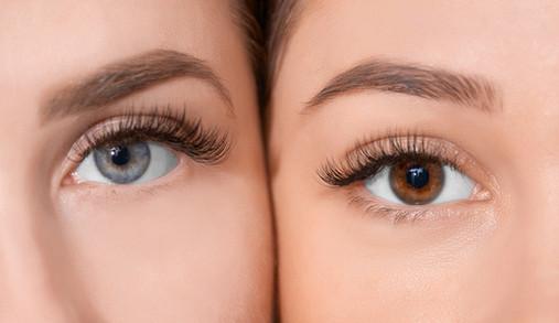 Augen und Augenbrauen
