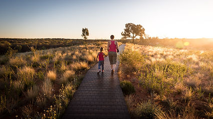 Promenade au coucher du soleil