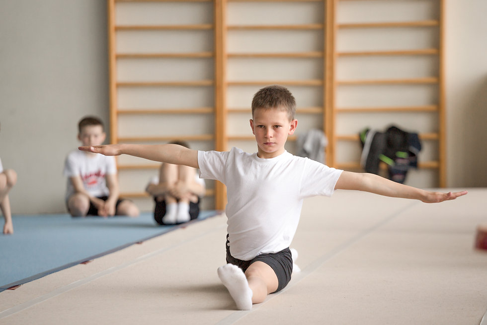 Child Practicing Gymnastics