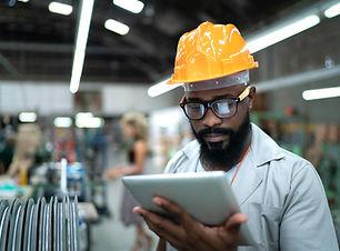Engineer on Tablet