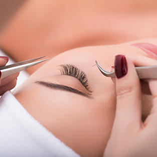 Eye lashes + Esthetician