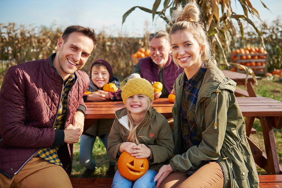 Family at Pumpkin Patch