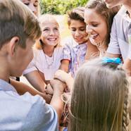 Children Heaping Hands