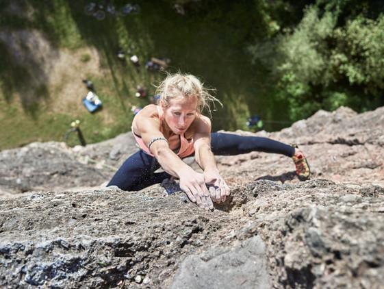 Weibliche Kletterer