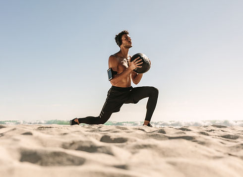 Workout at the Beach