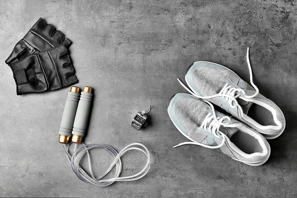 black and white photo of exercise equipment
