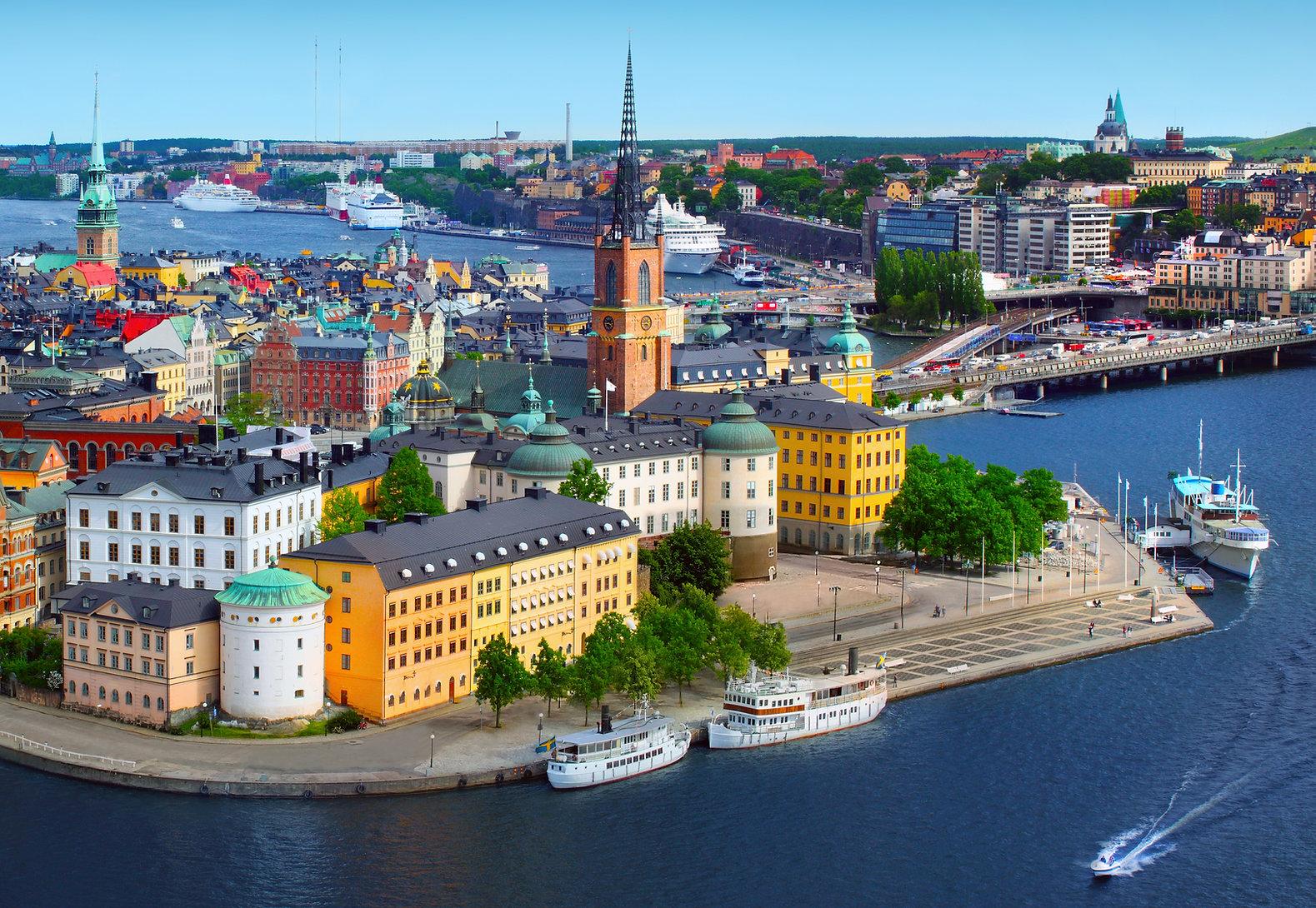 Panorama da Suécia em Estocolmo