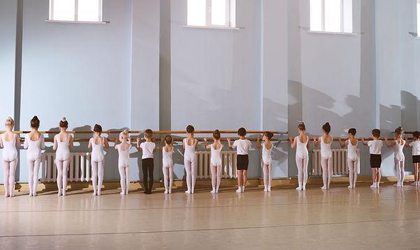 Young Dancers in Ballet Class
