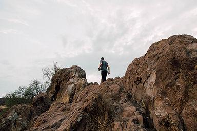 Man on a Hike