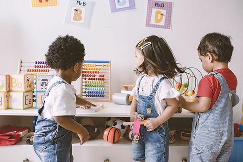 Diverse Kindergarten children
