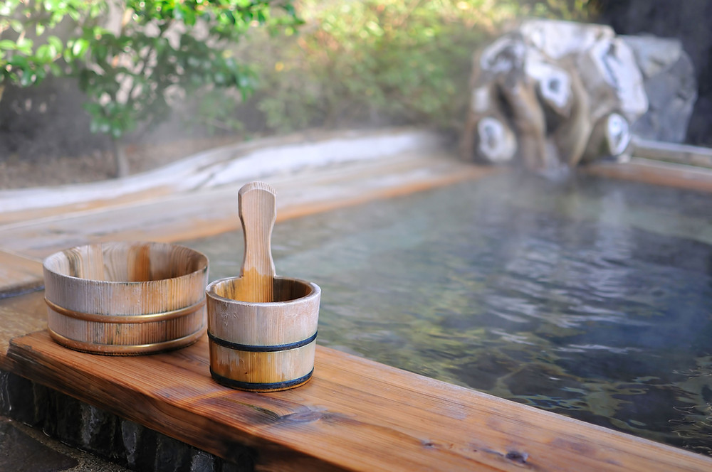 warm hot bath spa