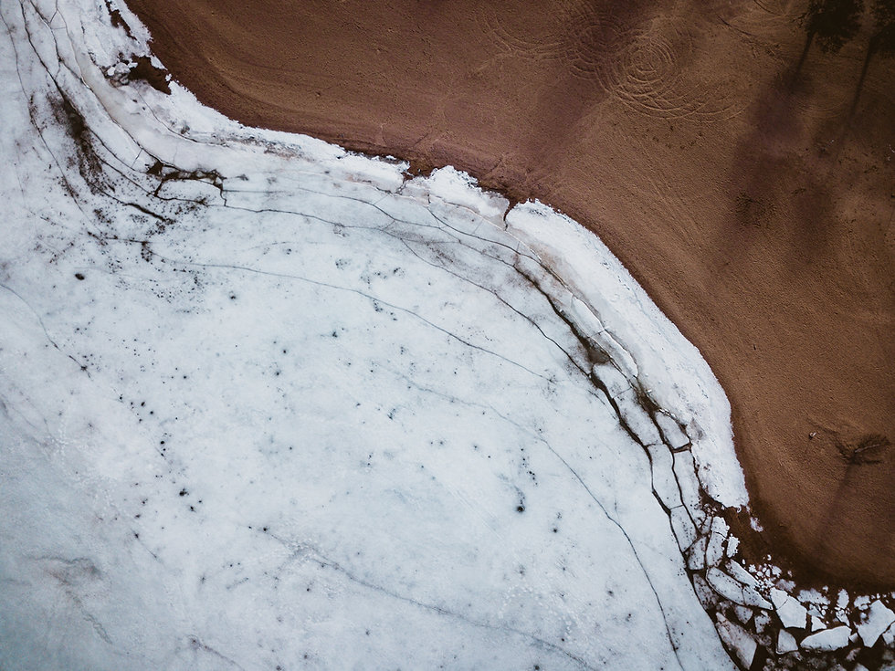 Letecký pohled na Barren Land