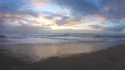on a beach in Hawaii....